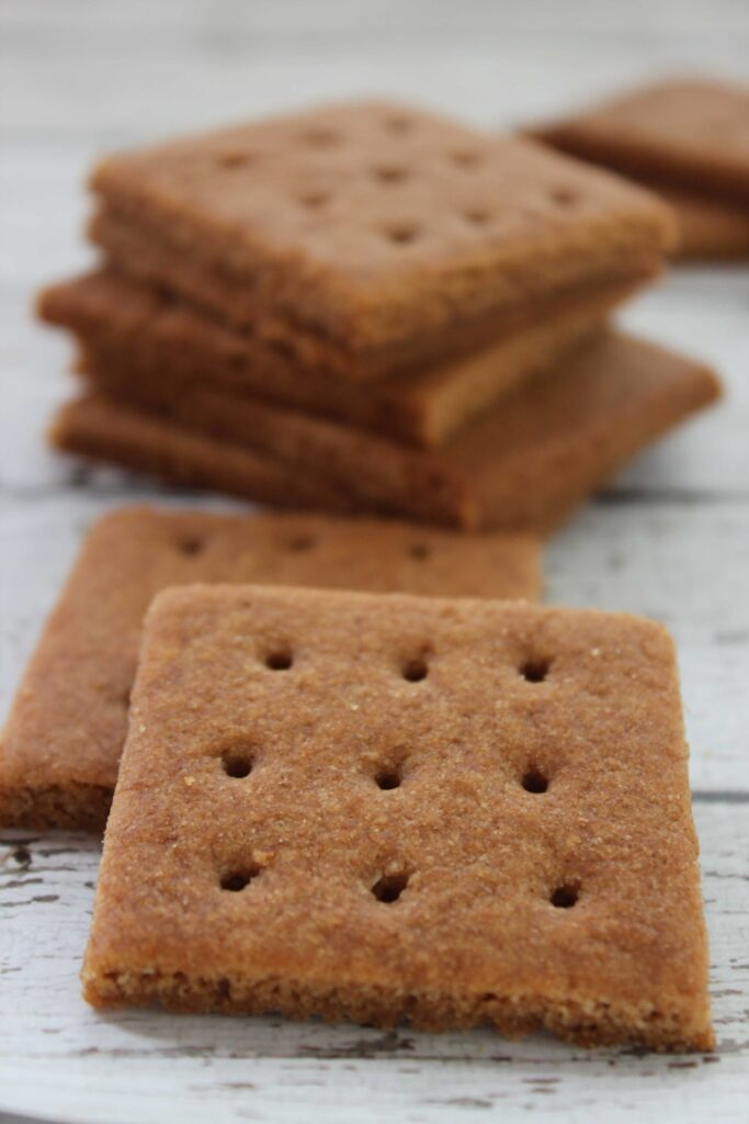 Homemade Graham Crackers in a stack