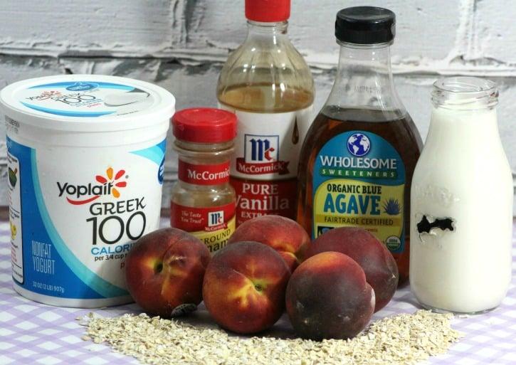 Peach Muffin Smoothie ingredients