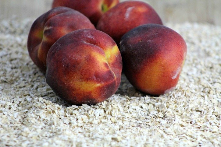 Peach Muffin Smoothie - peaches