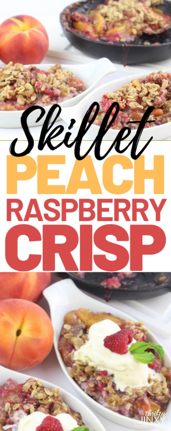 Skillet Peach Raspberry Crisp Recipe