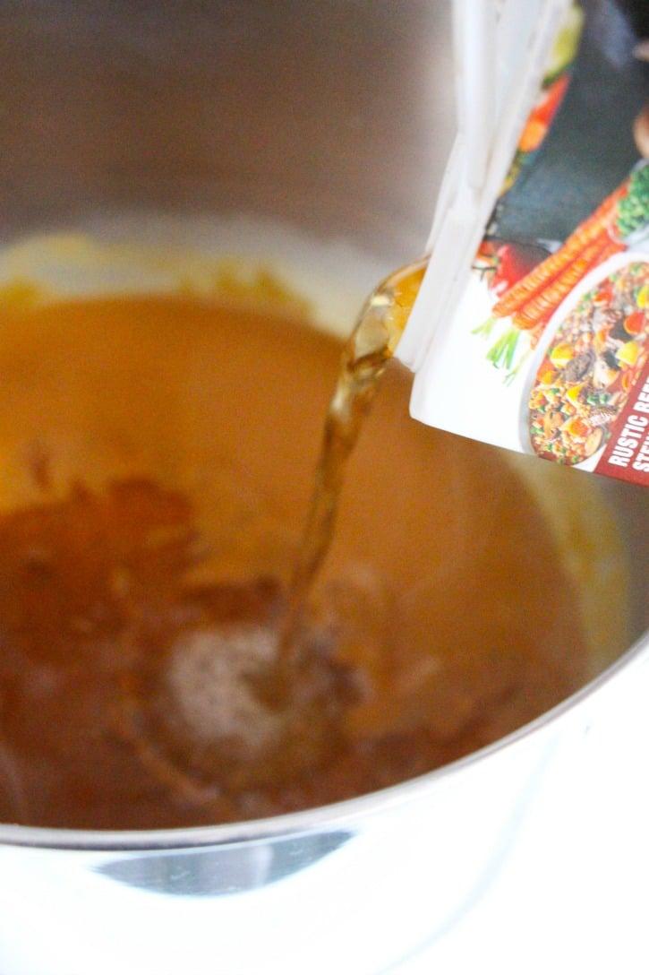 Homemade Gravy process