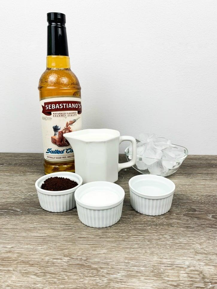 Salted Caramel Dalgona Coffee ingredients