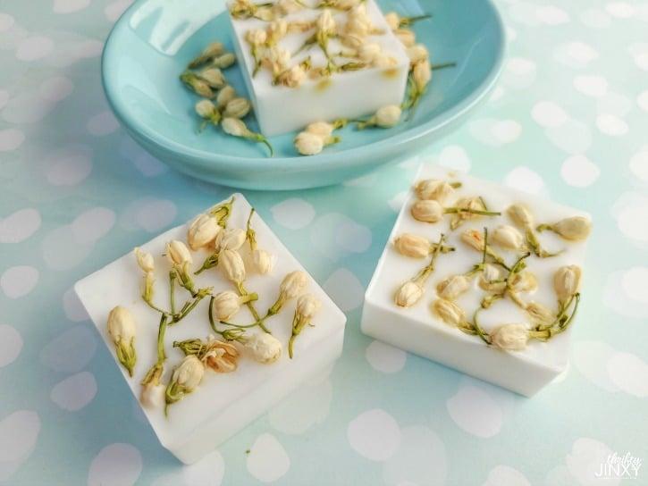 Easy DIY Jasmine Flower Soap