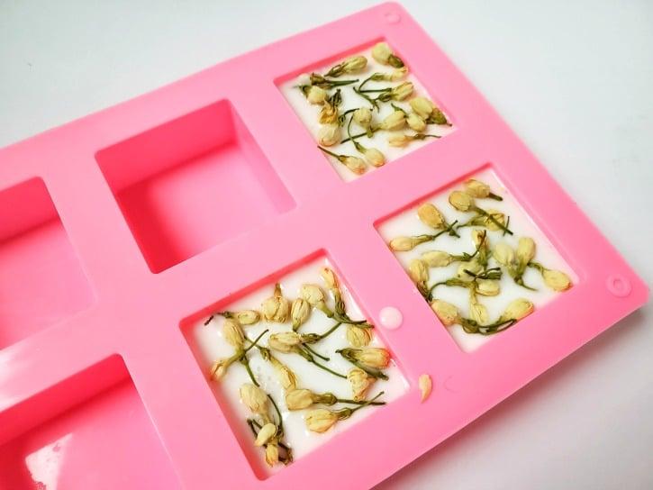 DIY Jasmine Flower Soap
