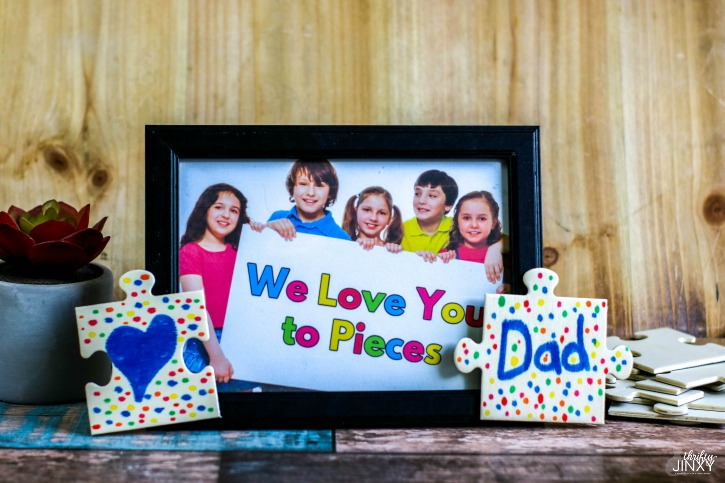 We Love You to Pieces Picture Frame Craft