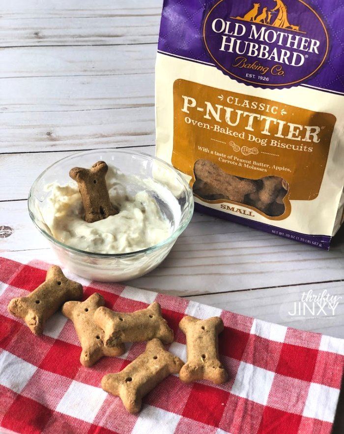 old mother hubbard dog treats and dip