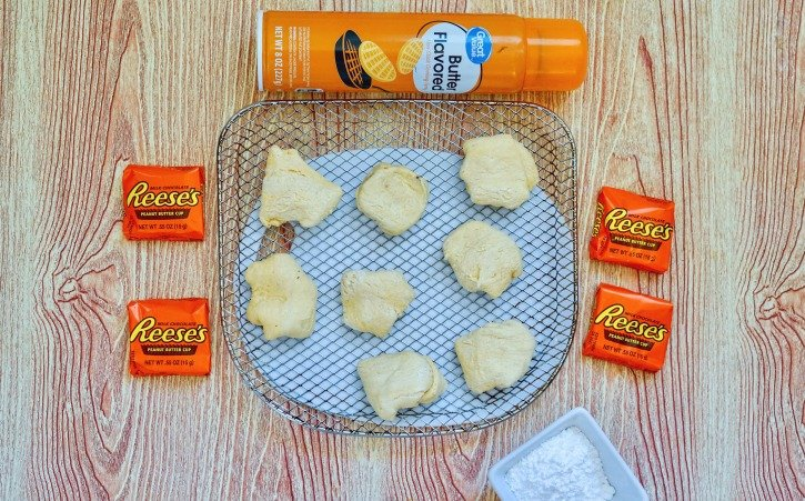 Air Fryer Reese's process