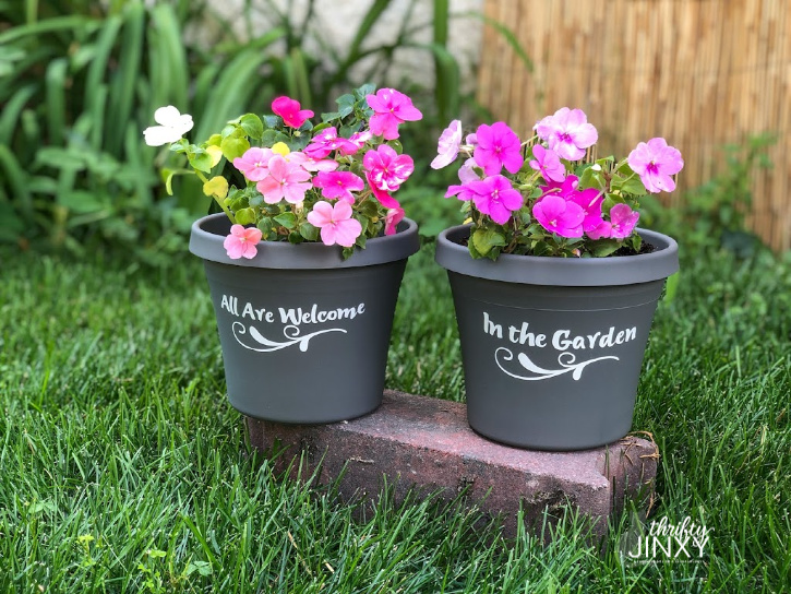 All Are Welcome Flower Pots