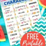 PRINTABLE SUMMER CHARADES CARDS