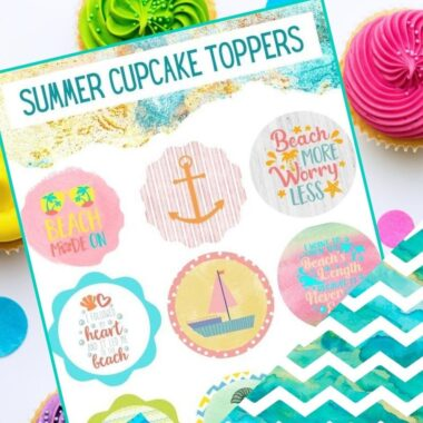 PRINTABLE Summer Cupcake Toppers (1)