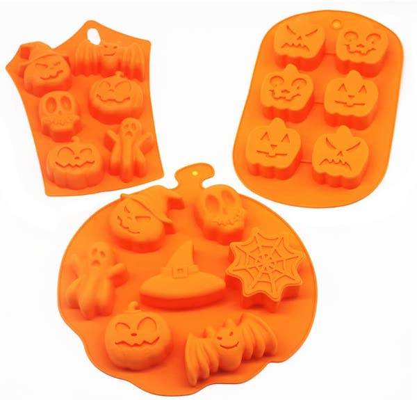 Silicone Halloween Mold Pumpkin Ghost Bat