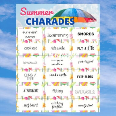 Summer Charades Cards