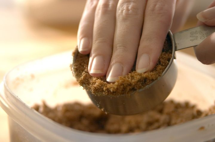 brown sugar in measuring cup