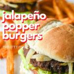 jalapeño popper burgers recipe