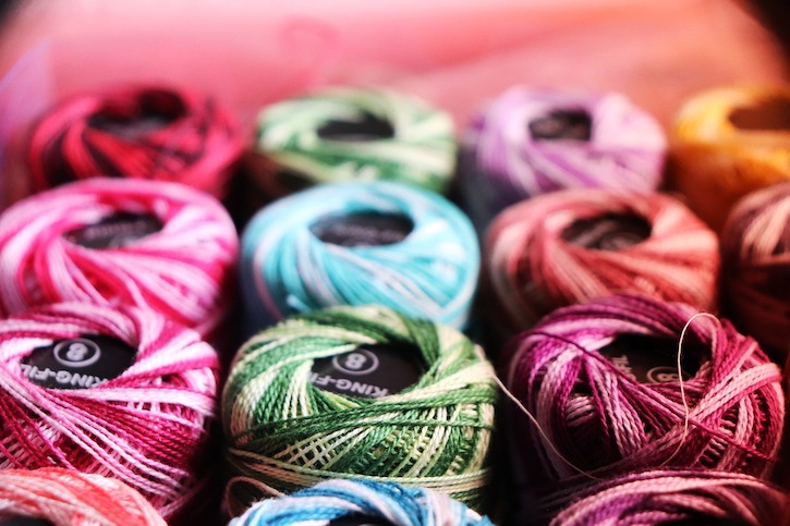 spools of colorful embroidery thread