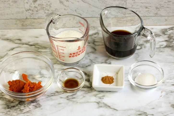 Iced Pumpkin Spice Latte ingredients needed