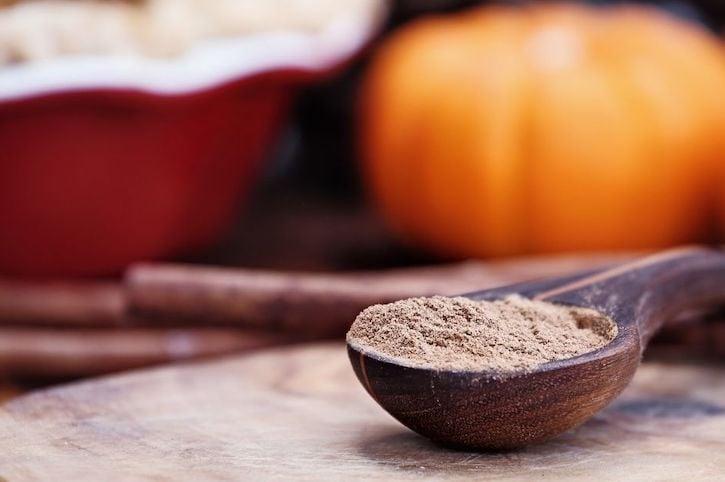 Pumpkin Spice in Wooden Spoon