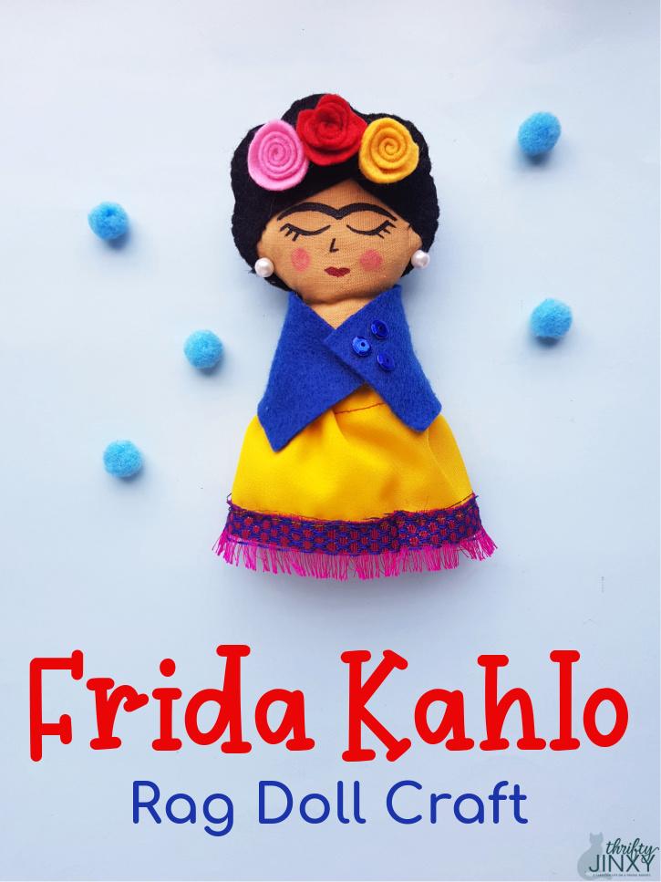 Frida Kahlo Rag Doll Craft