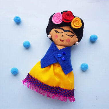 Frida Kahlo Rag Doll Craft
