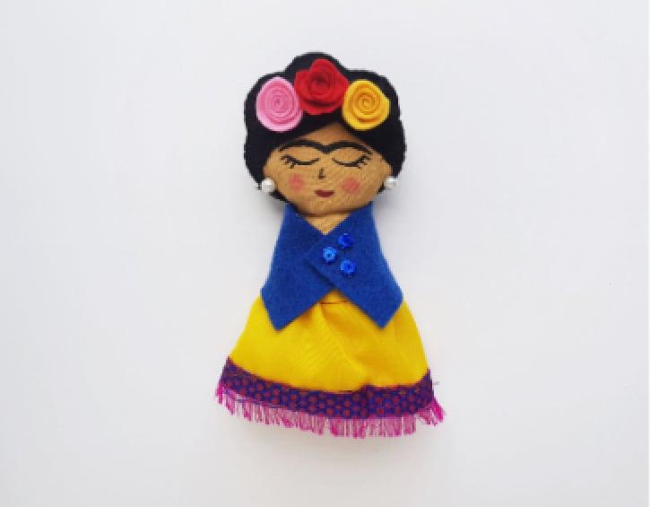 Frida Kahlo Rag Doll