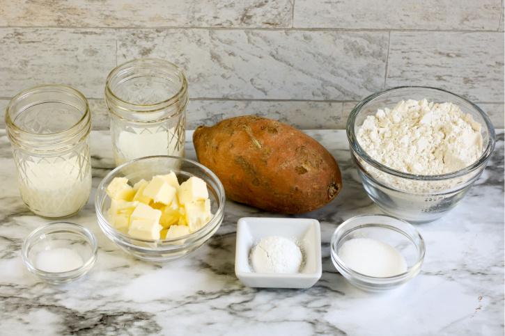 Sweet Potato Biscuits Recipe ingredients