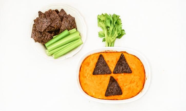 Halloween Style Buffalo Chicken Wing Dip Recipe ingredients needed