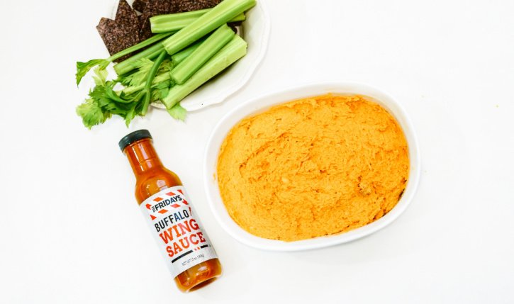 Halloween Style Buffalo Chicken Wing Dip Recipe process