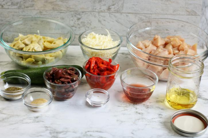 Low-Carb Greek Chicken Casserole ingredients needed
