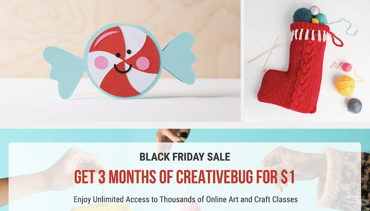 Creativebug Black Friday Deal