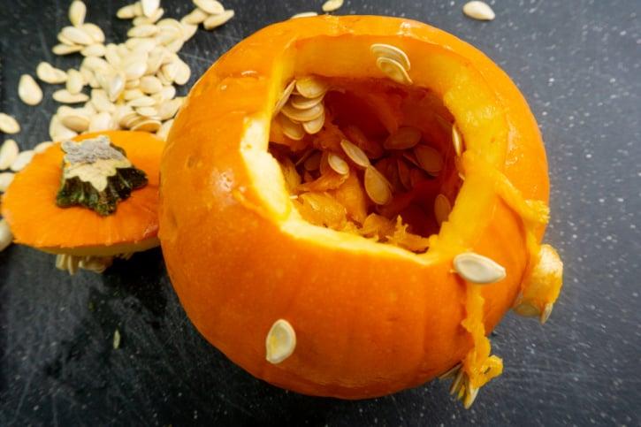 Instant Pot Pumpkin Puree process
