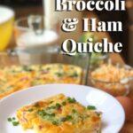 cheesy broccoli and ham quiche