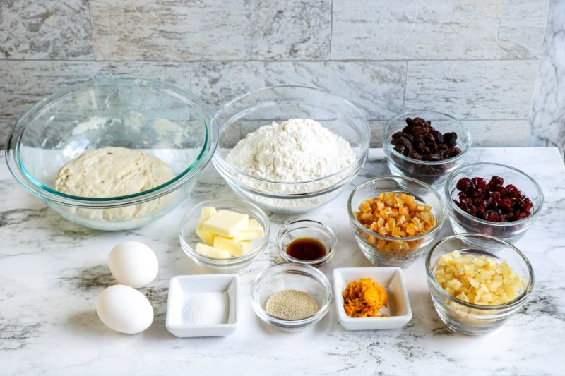 Panettone Christmas Bread ingredients