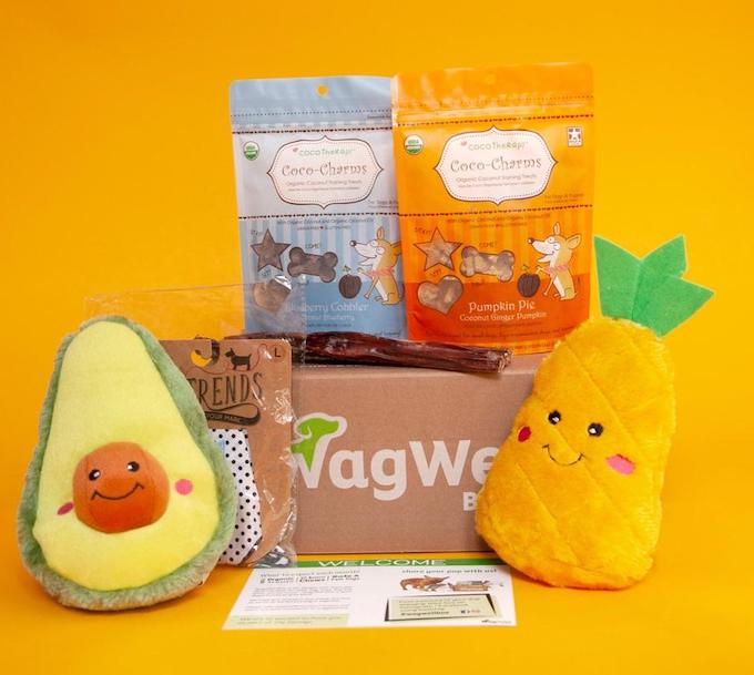 Wagwell Dog Subscription Box Contents