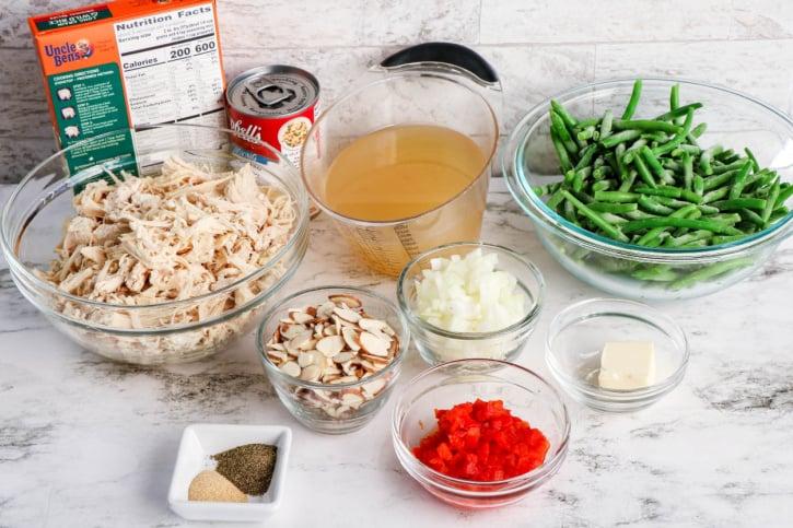 Chicken Almondine Casserole Recipe ingredients needed