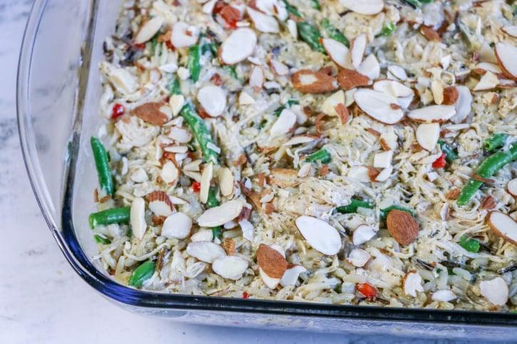 Chicken Almondine Casserole Recipe process