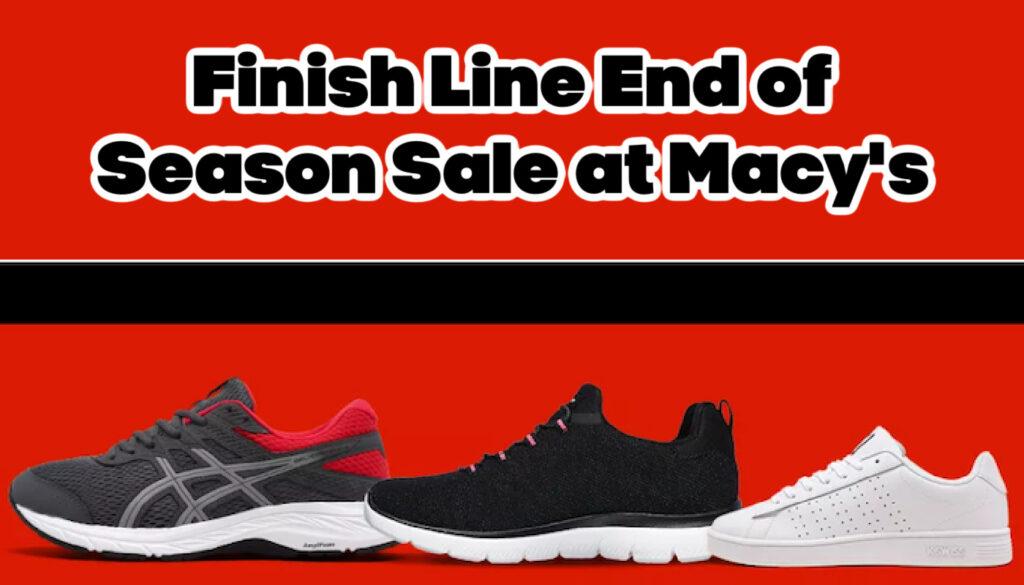 Finish Line End of Season Sale at Macys