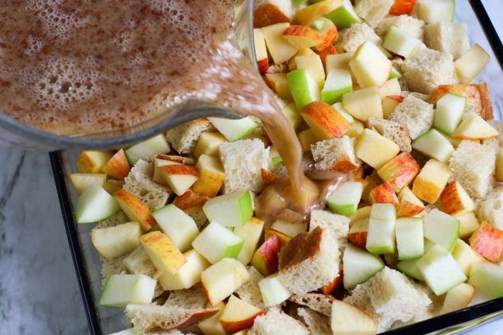 Apple Challah French Toast Casserole process
