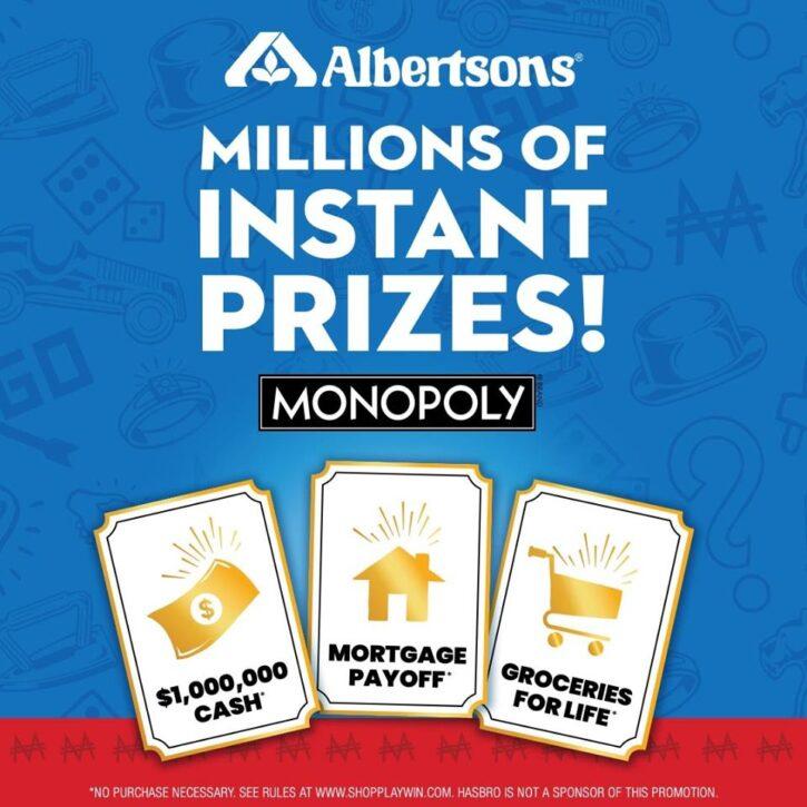 Albertsons Monopoly Instant Prizes