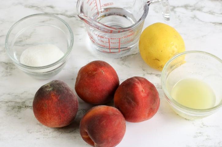 Peach Sorbet ingredients needed