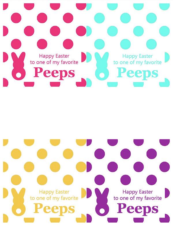 Peeps Smores Labels