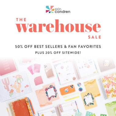 erin condren warehouse sale