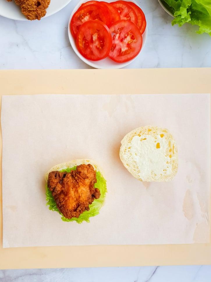 Crispy Fried Chicken Sandwich process