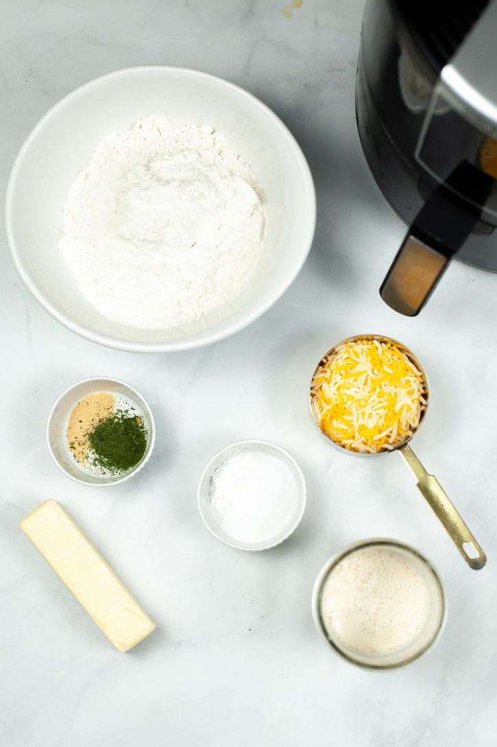 Air Fryer Cheddar Bay Biscuit Recipe ingredients needed