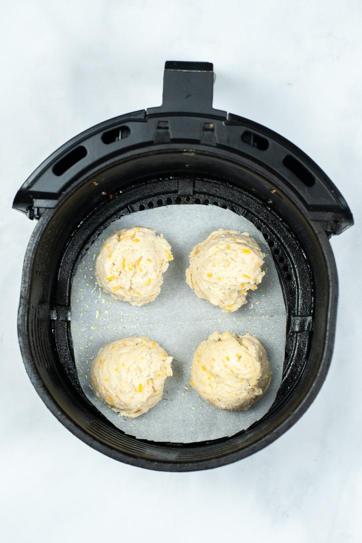Air Fryer Cheddar Bay Biscuit Recipe process