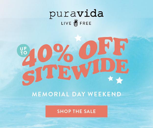 Pura Vida Memorial Day Sale