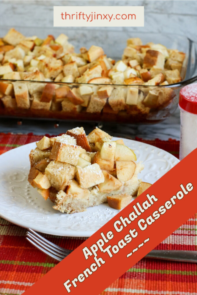 Apple Challah French Toast Casserole