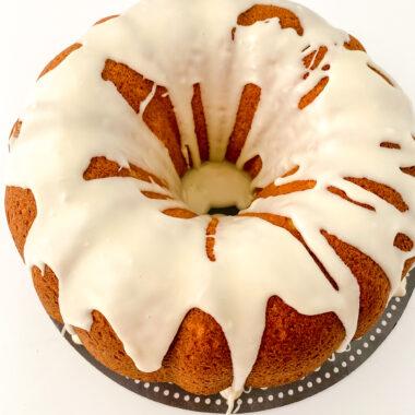 Sweet Potato Pound Cake with Glaze